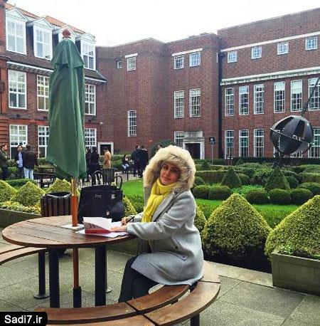 2 عکس جدید الناز شاکردوست در دانشگاه لندن