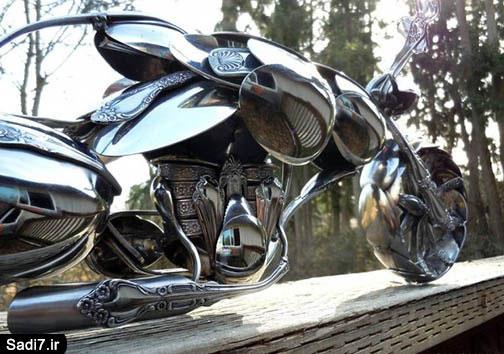 موتورسیکلتی از جنس قاشق