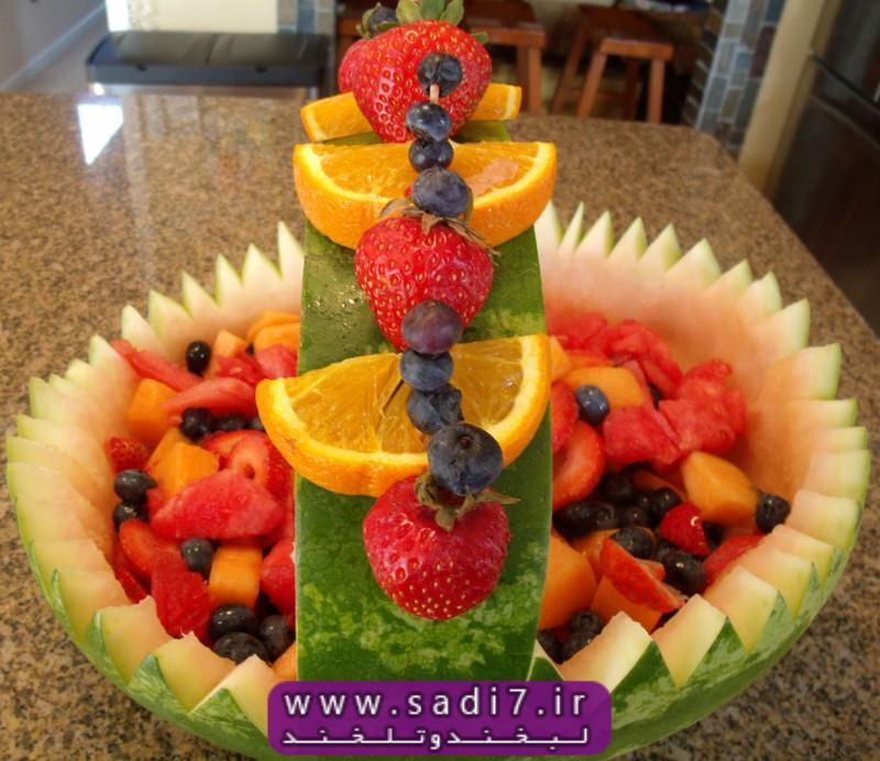 عکس های زیبا از میوه آرایی یکتا