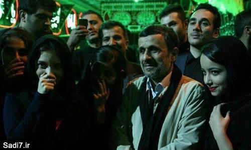 سلفی های احمدی نژاد در مراسم عزاداری امام حسین